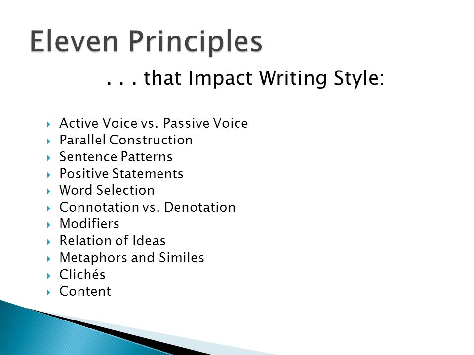 ... that Impact Writing Style:  Active Voice vs.