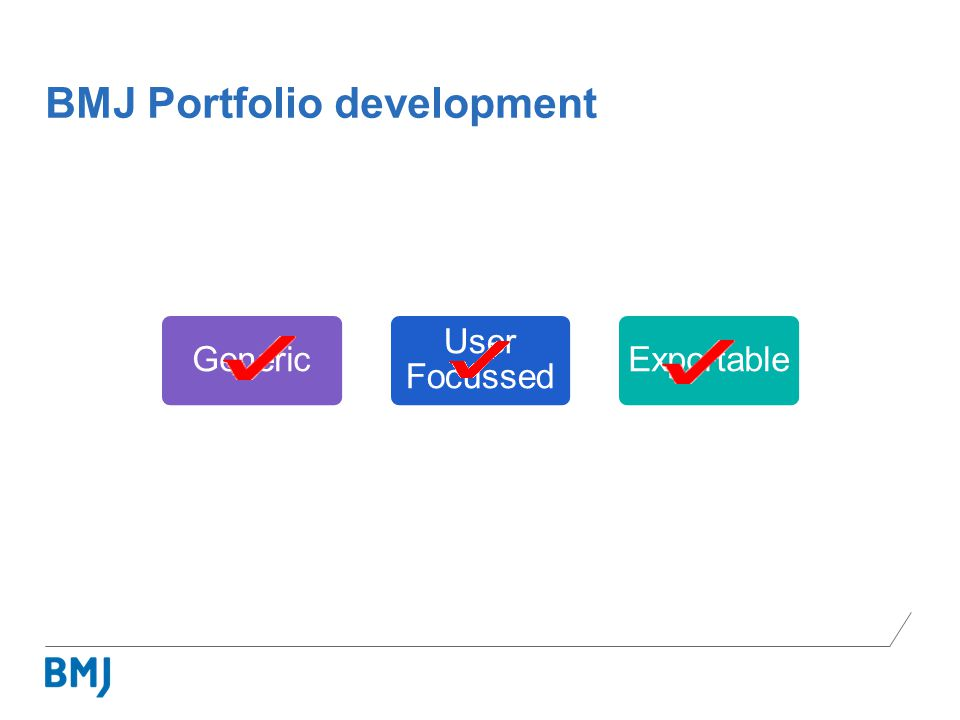 BMJ Portfolio development Generic User Focussed Exportable