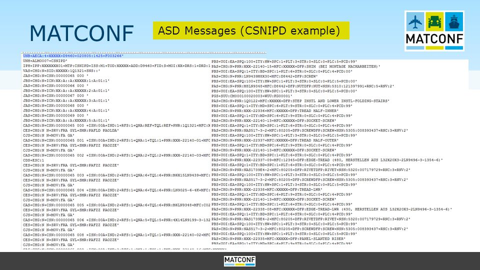 MATCONF ASD Messages (CSNIPD example)