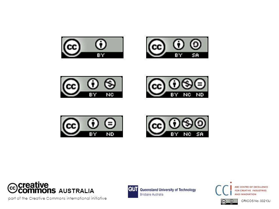 AUSTRALIA part of the Creative Commons international initiative CRICOS No. 00213J