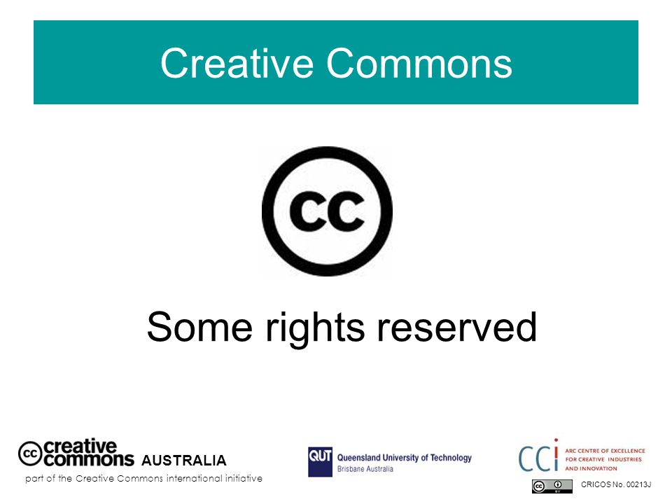 AUSTRALIA part of the Creative Commons international initiative CRICOS No.