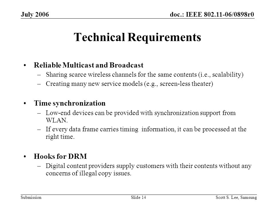 doc.: IEEE 802.11-06/0898r0 Submission July 2006 Scott S.