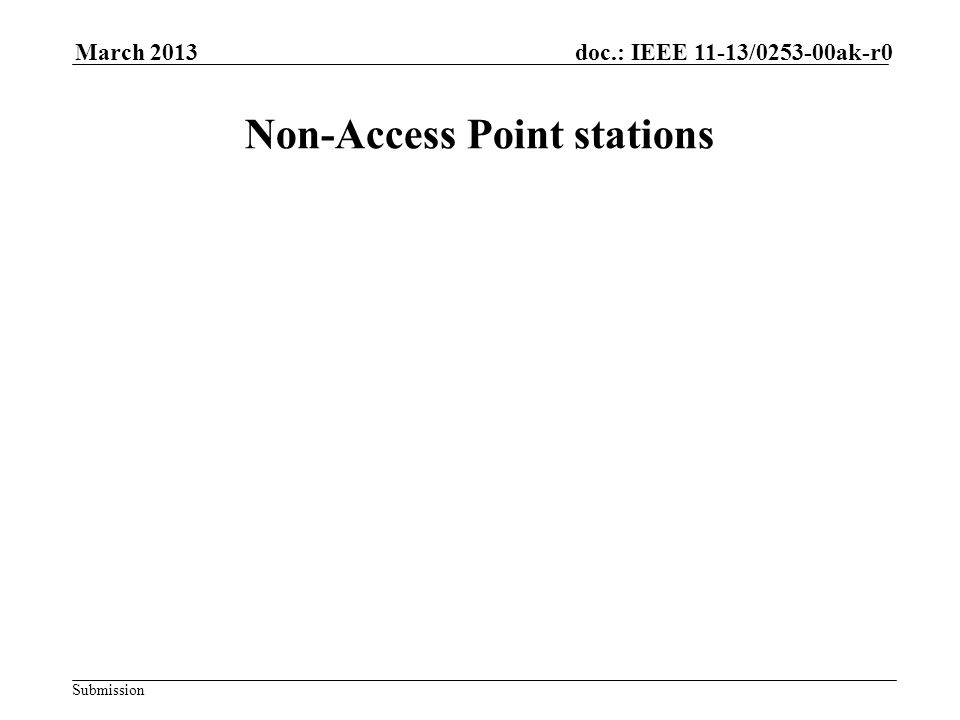 Submission doc.: IEEE 11-13/0253-00ak-r0March 2013 Non-Access Point stations