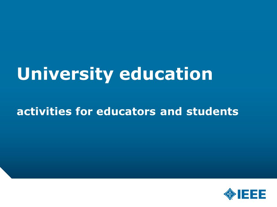 12-CRS-0106 REVISED 8 FEB 2013 University education activities for educators and students