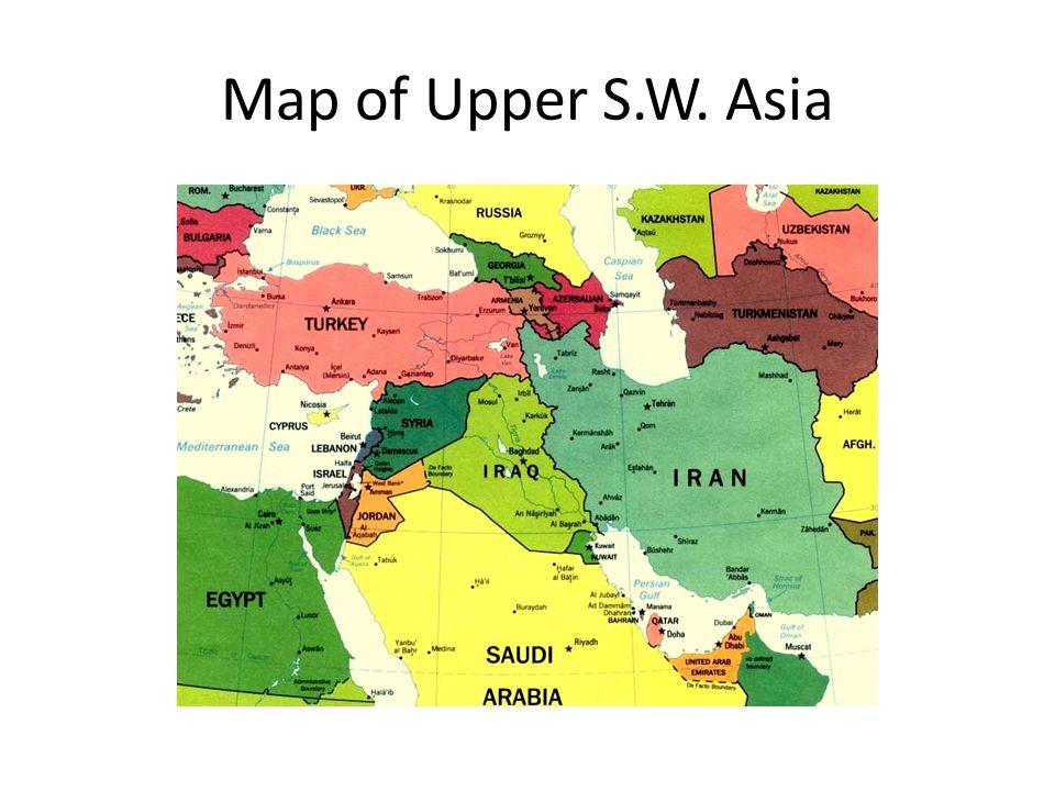 Map Of Upper Asia.S W Asia Countries In Region Turkeygeorgia Cyprusarmenia