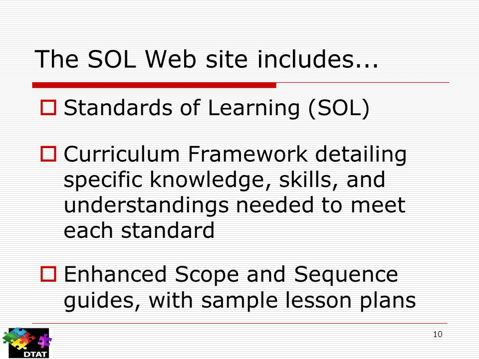 The SOL Web site includes...