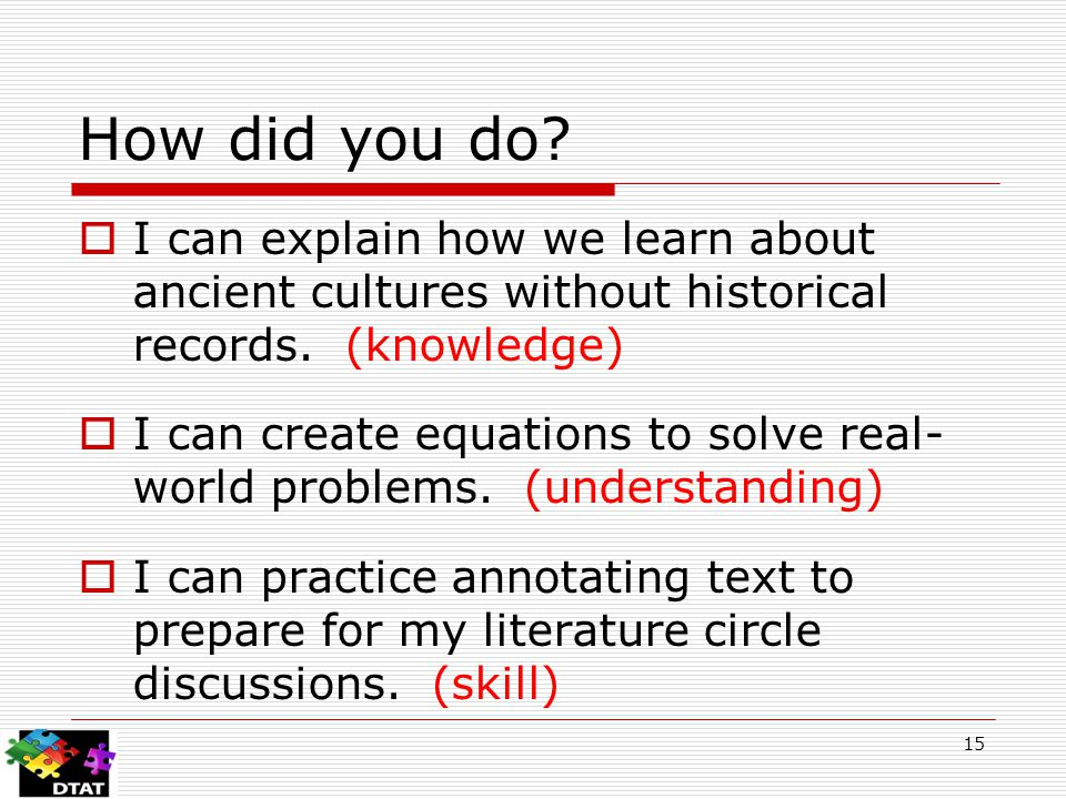 How did you do.  I can explain how we learn about ancient cultures without historical records.