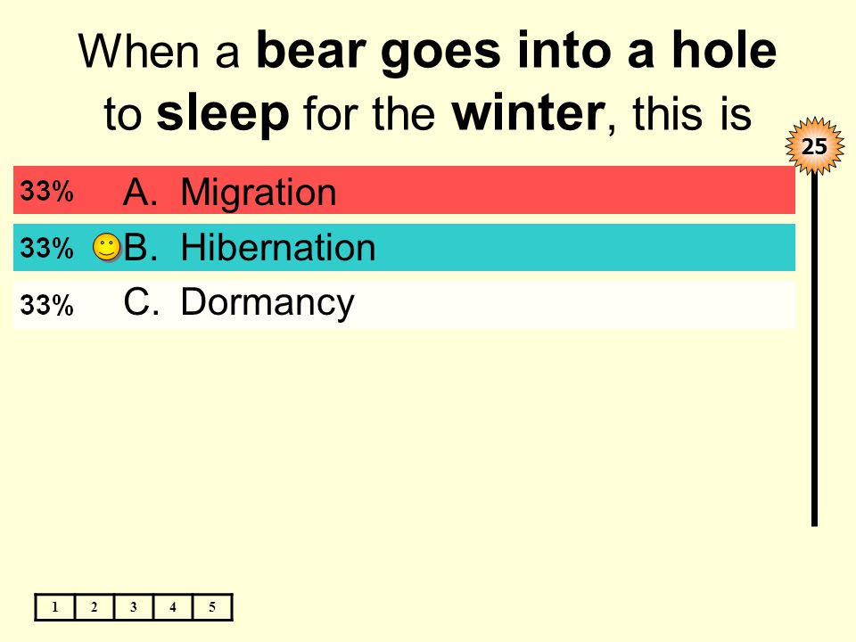 When a bear goes into a hole to sleep for the winter, this is ____.