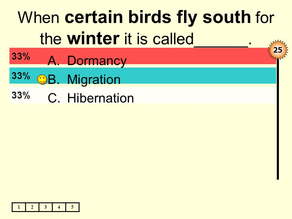 When certain birds fly south for the winter it is called______.