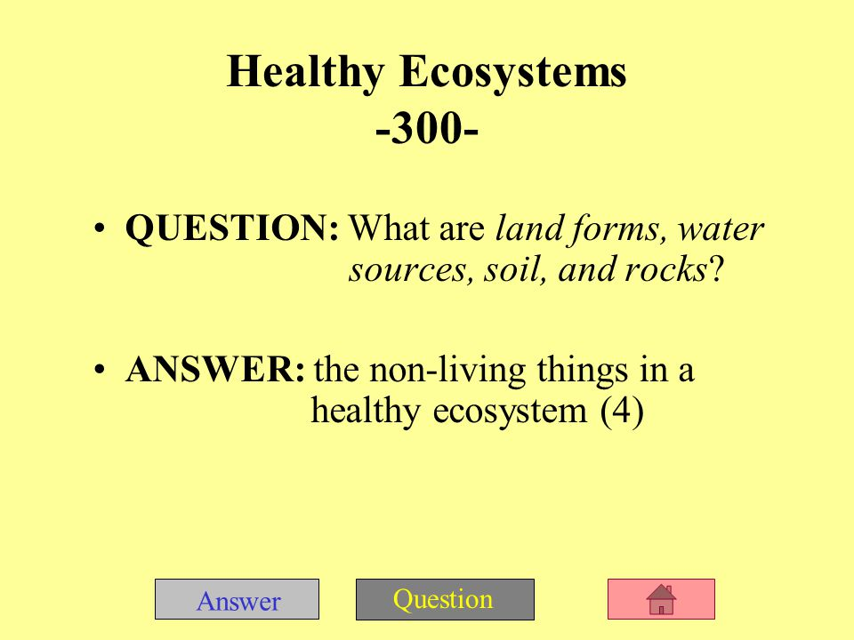 Answer Question QUESTION: What are producers, consumers, and decomposers.