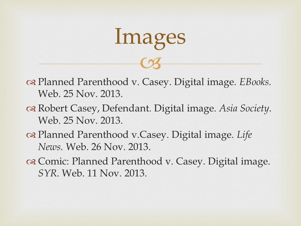   Planned Parenthood v. Casey. Digital image. EBooks.