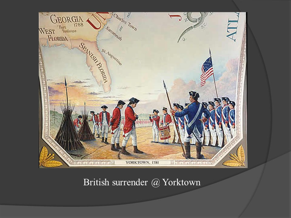 British surrender @ Yorktown