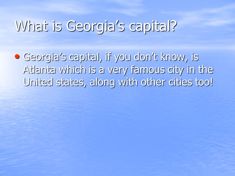 What is Georgia's capital.