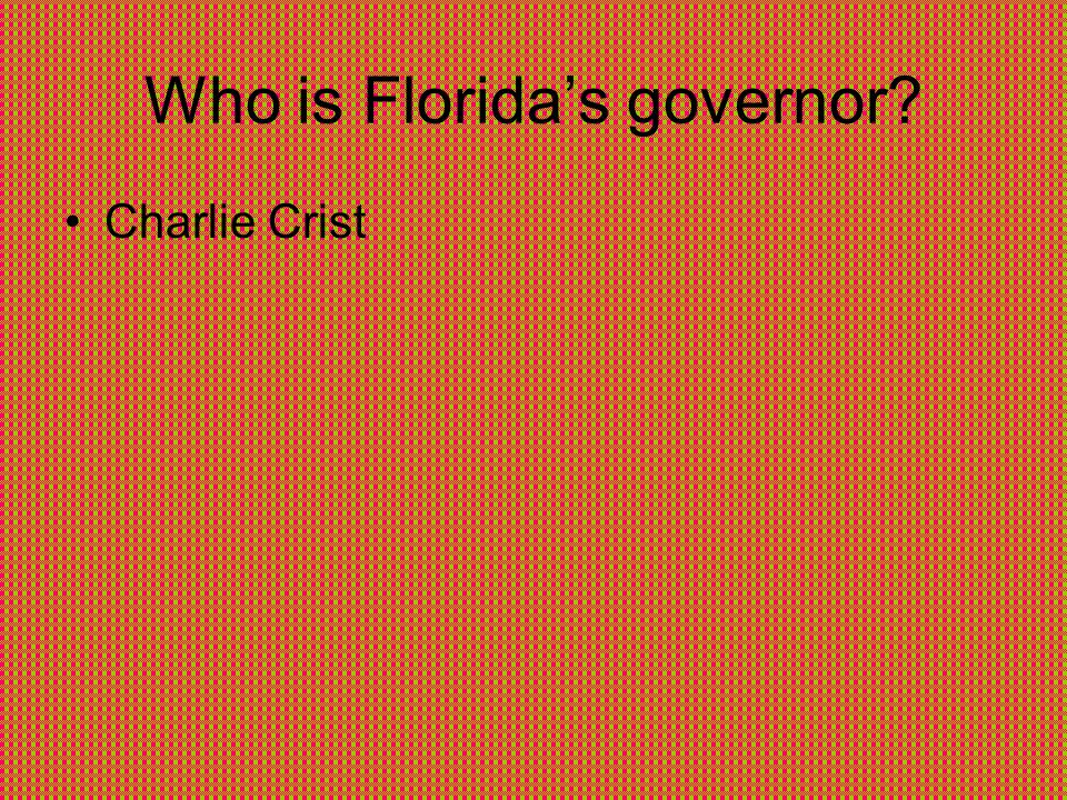 Who is Florida's governor Charlie Crist