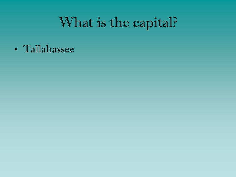 What is the capital Tallahassee