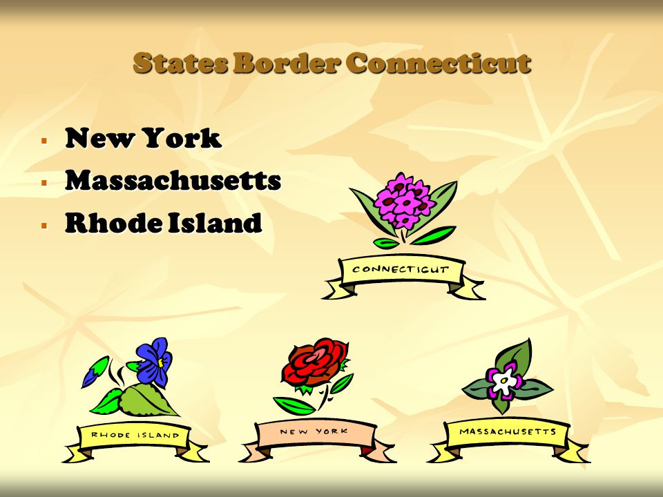 States Border Connecticut  New York  Massachusetts  Rhode Island