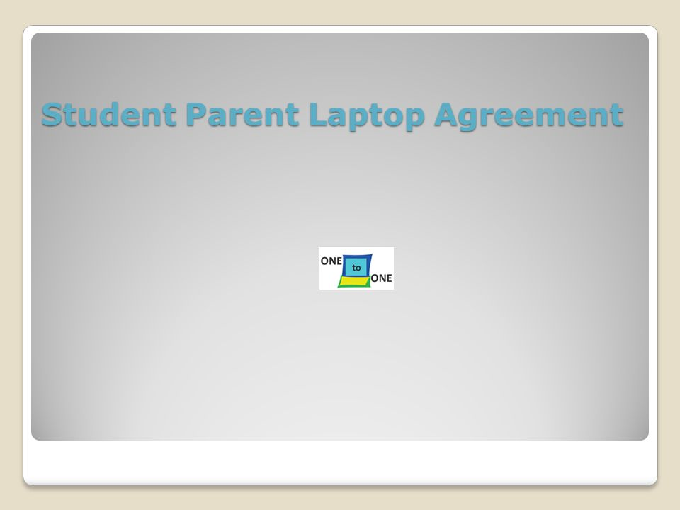 Student Parent Laptop Agreement