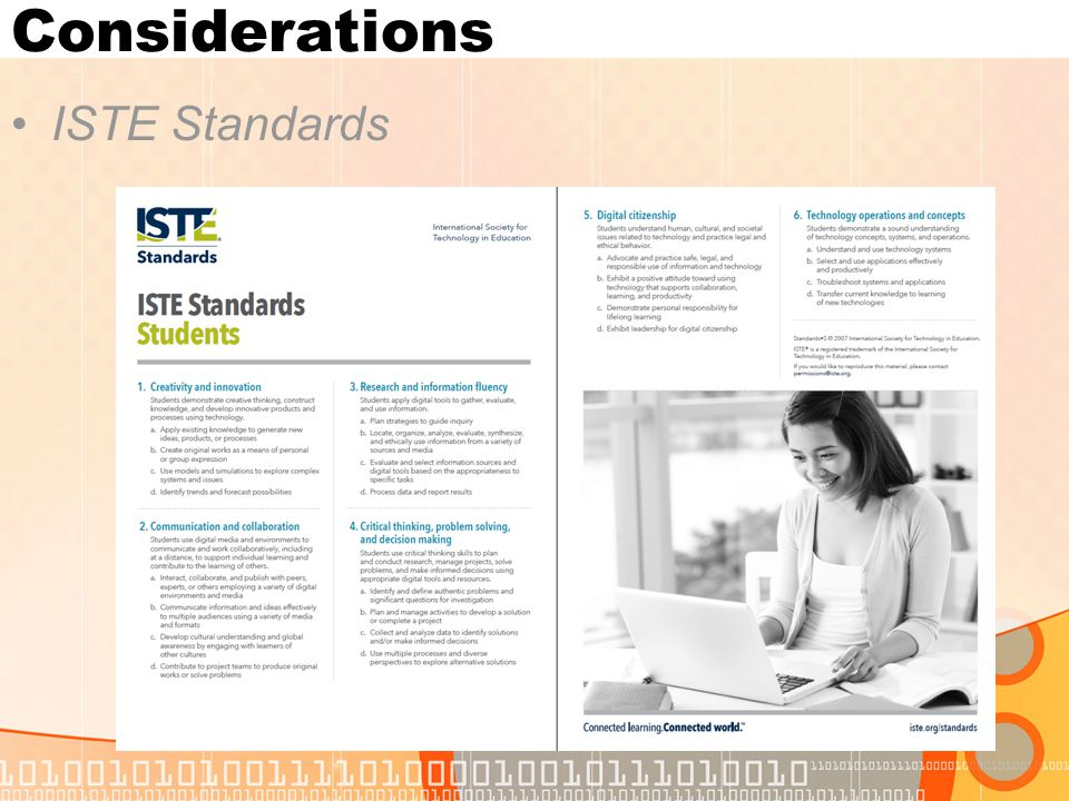 Considerations ISTE Standards