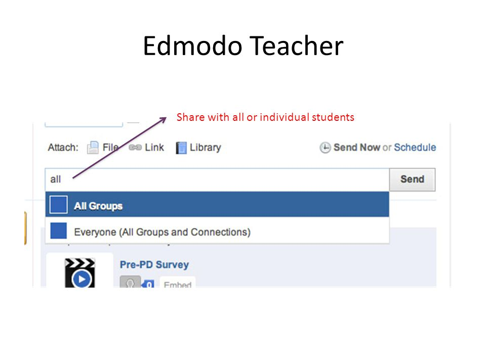 Edmodo Teacher Share with all or individual students