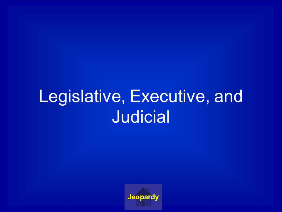 Legislative, Executive, and Judicial Jeopardy