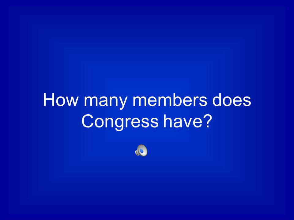 How many members does Congress have