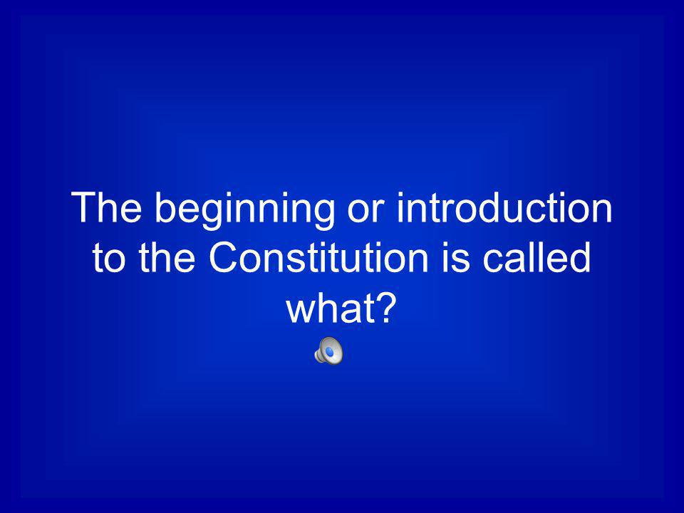 The beginning or introduction to the Constitution is called what