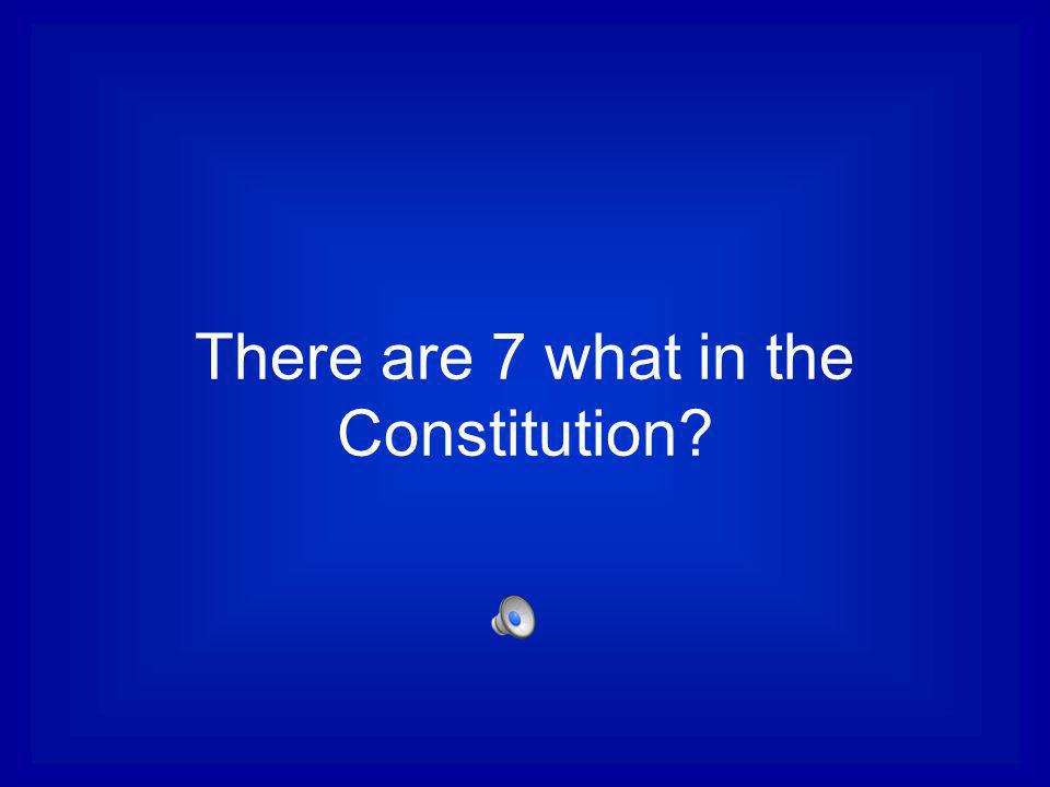 There are 7 what in the Constitution