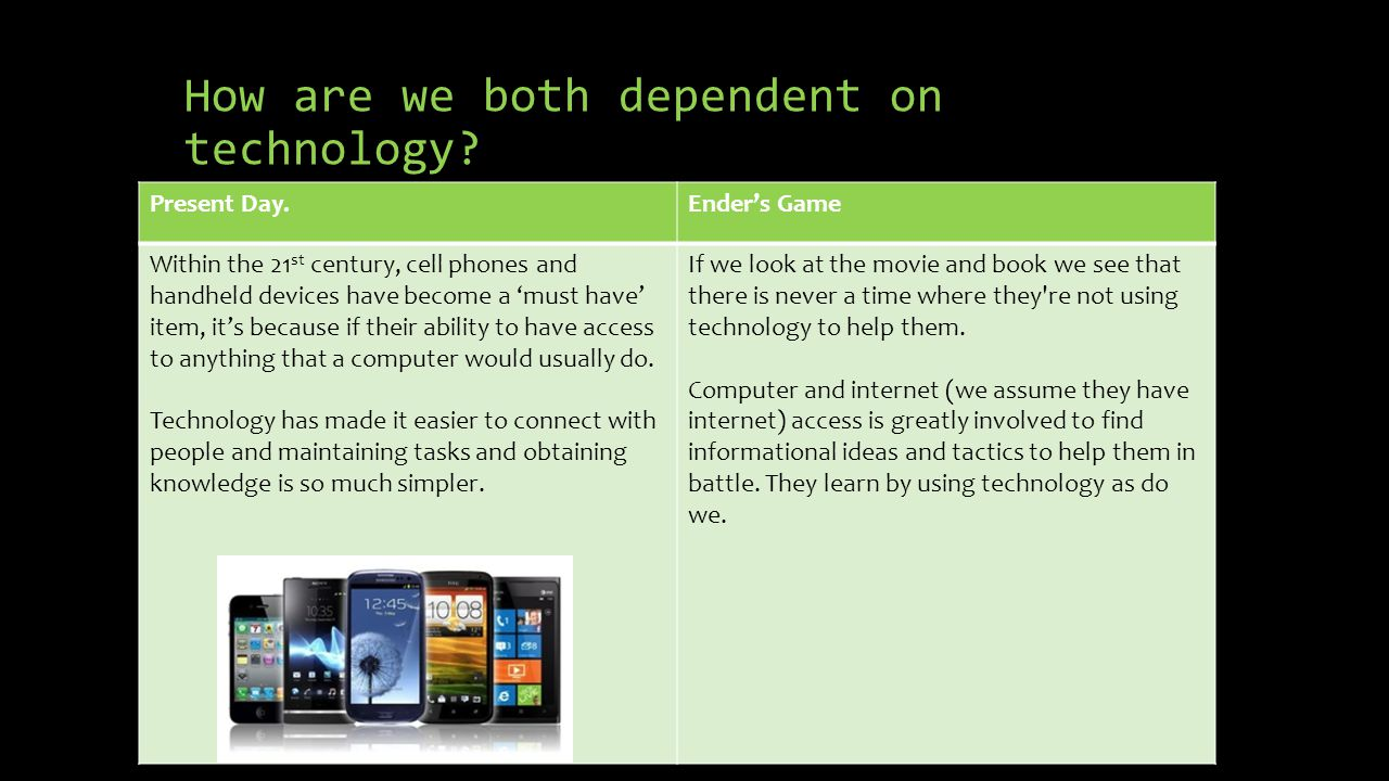 How are we both dependent on technology.