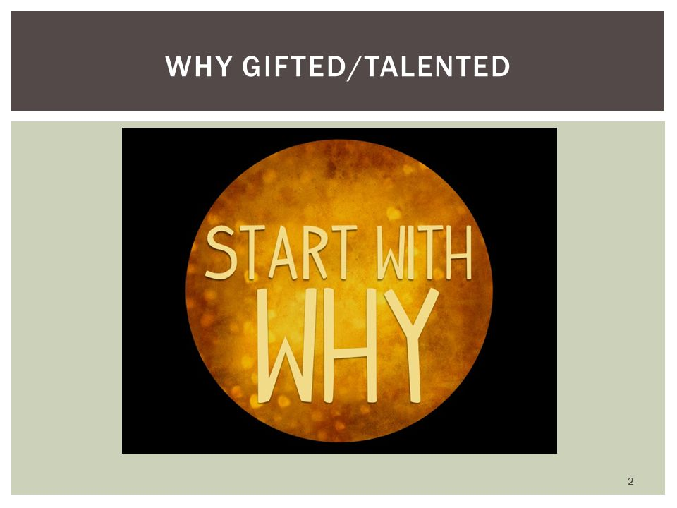 WHY GIFTED/TALENTED 2