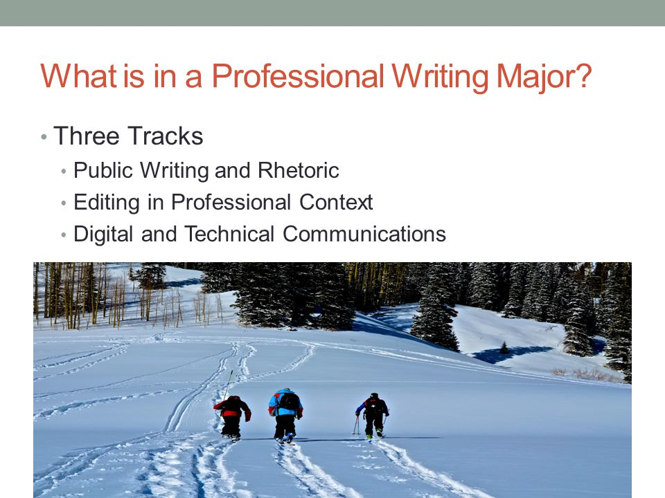 What is in a Professional Writing Major.