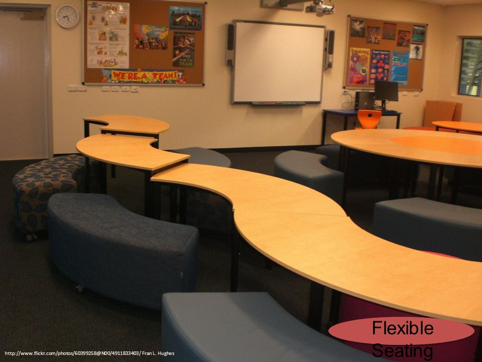http://www.flickr.com/photos/60399258@N00/4911833403/ Fran L. Hughes Flexible Seating