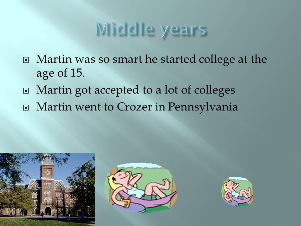  Martin and his best friend weren't the same skin color and they couldn't go to school together.