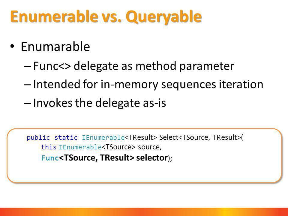 Enumerable vs.