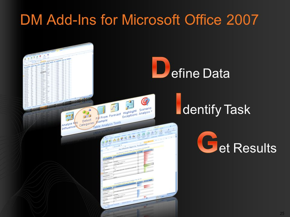 25 DM Add-Ins for Microsoft Office 2007