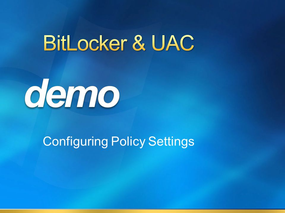Configuring Policy Settings