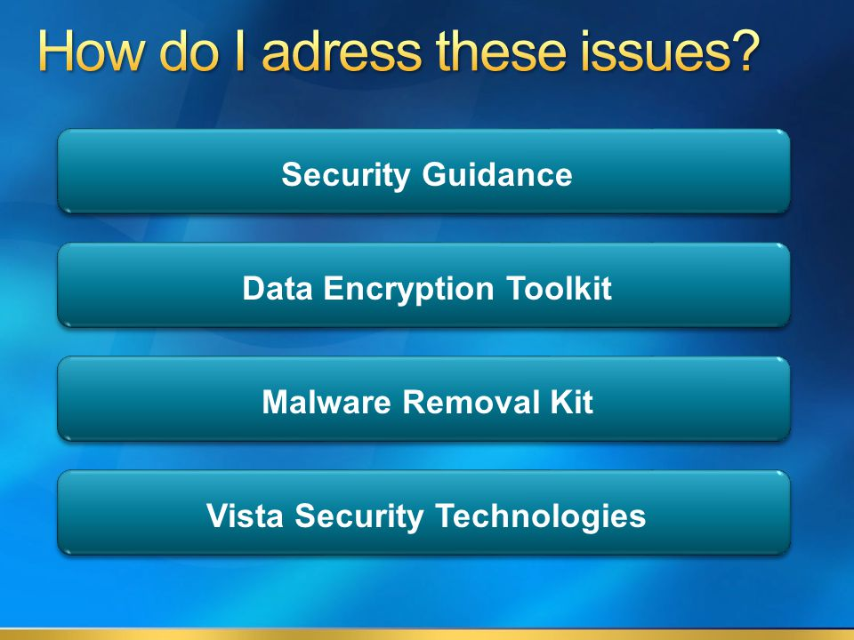 Security Guidance Data Encryption Toolkit Malware Removal Kit Vista Security Technologies