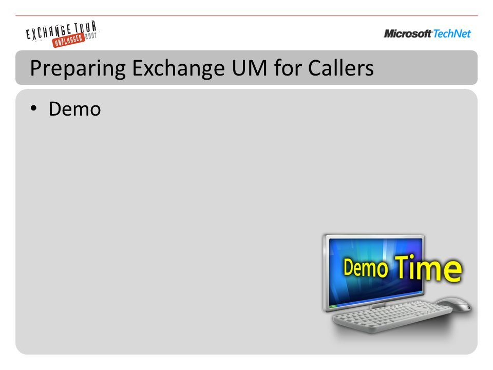 Preparing Exchange UM for Callers Demo