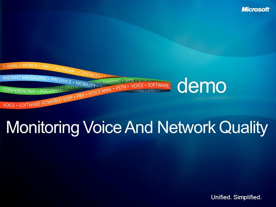 Unified. Simplified. Monitoring Voice And Network Quality