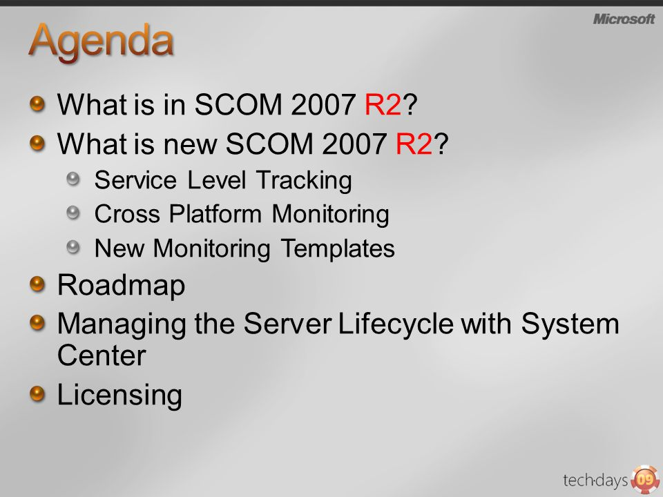 What is in SCOM 2007 R2. What is new SCOM 2007 R2.