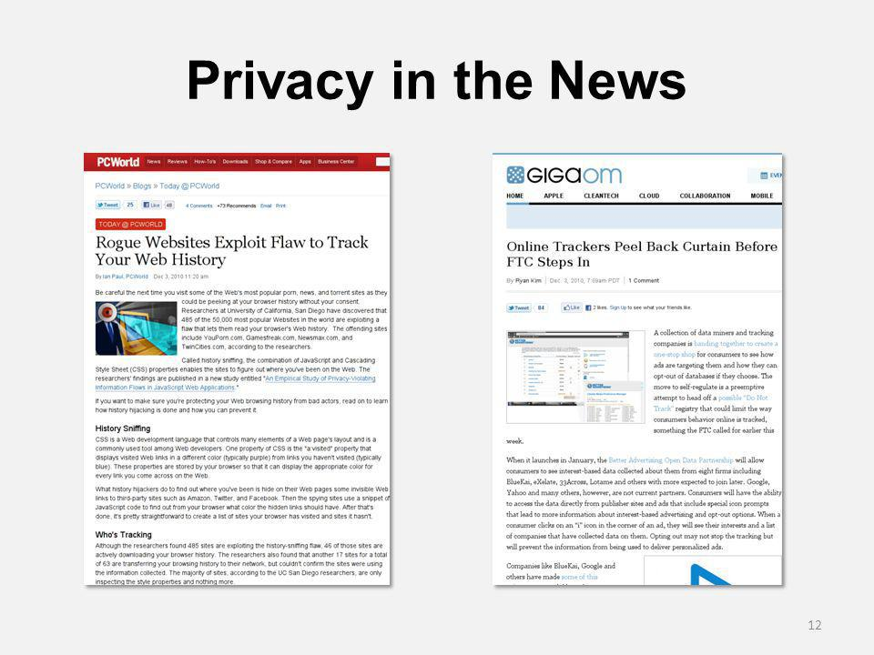 Privacy in the News 12