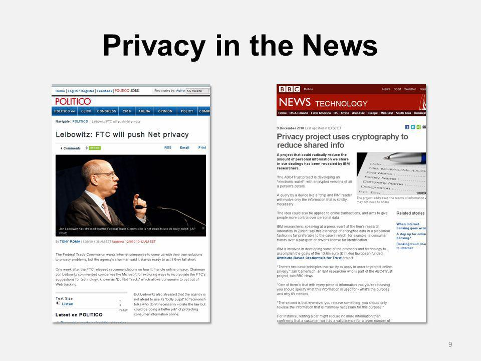 Privacy in the News 9