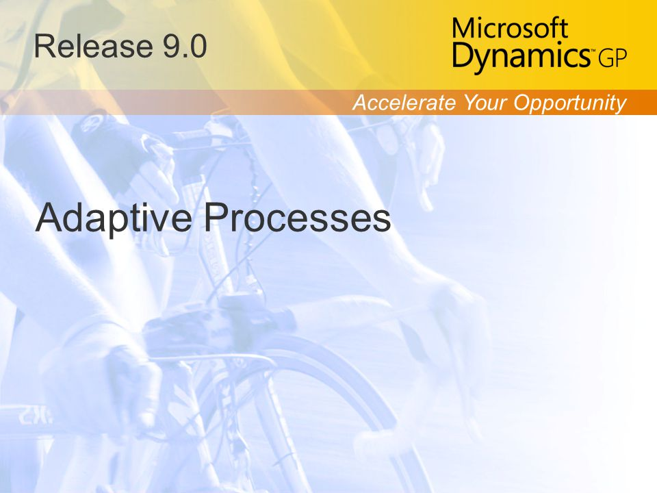 Accelerate Your Opportunity Release 9.0 Adaptive Processes