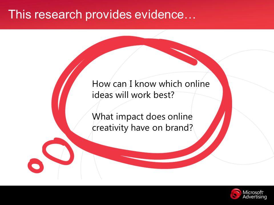 This research provides evidence… How can I know which online ideas will work best.