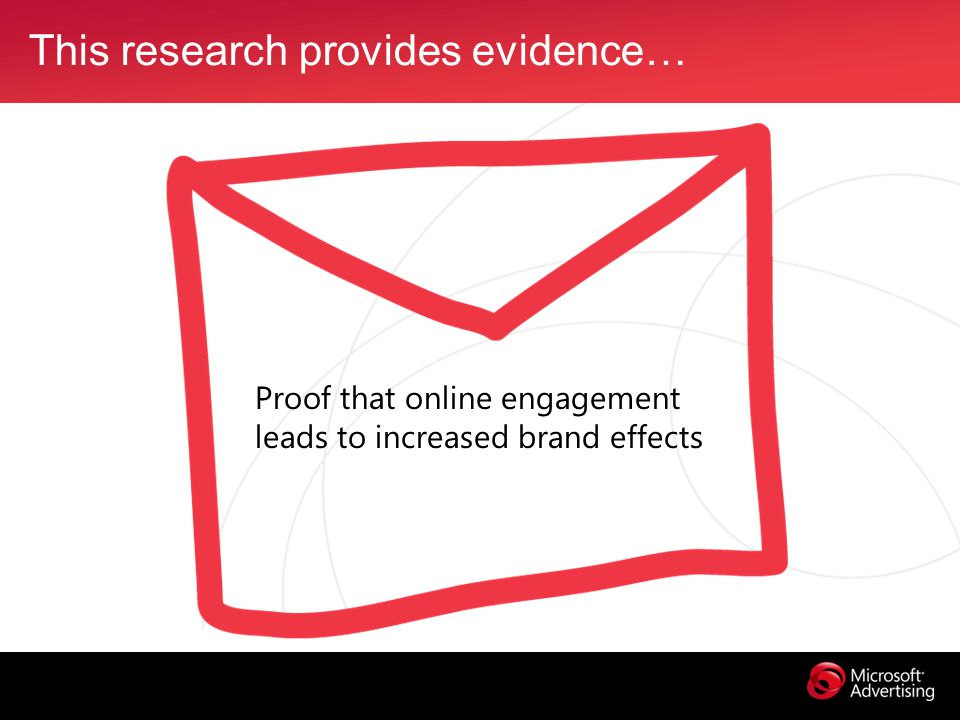 This research provides evidence… Proof that online engagement leads to increased brand effects