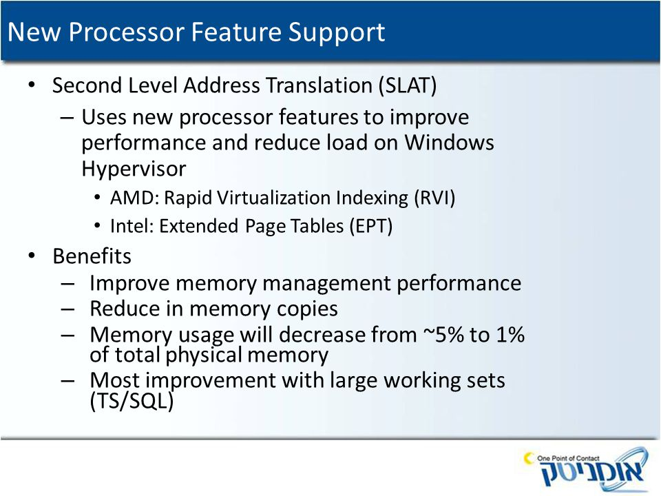 New Processor Feature Support