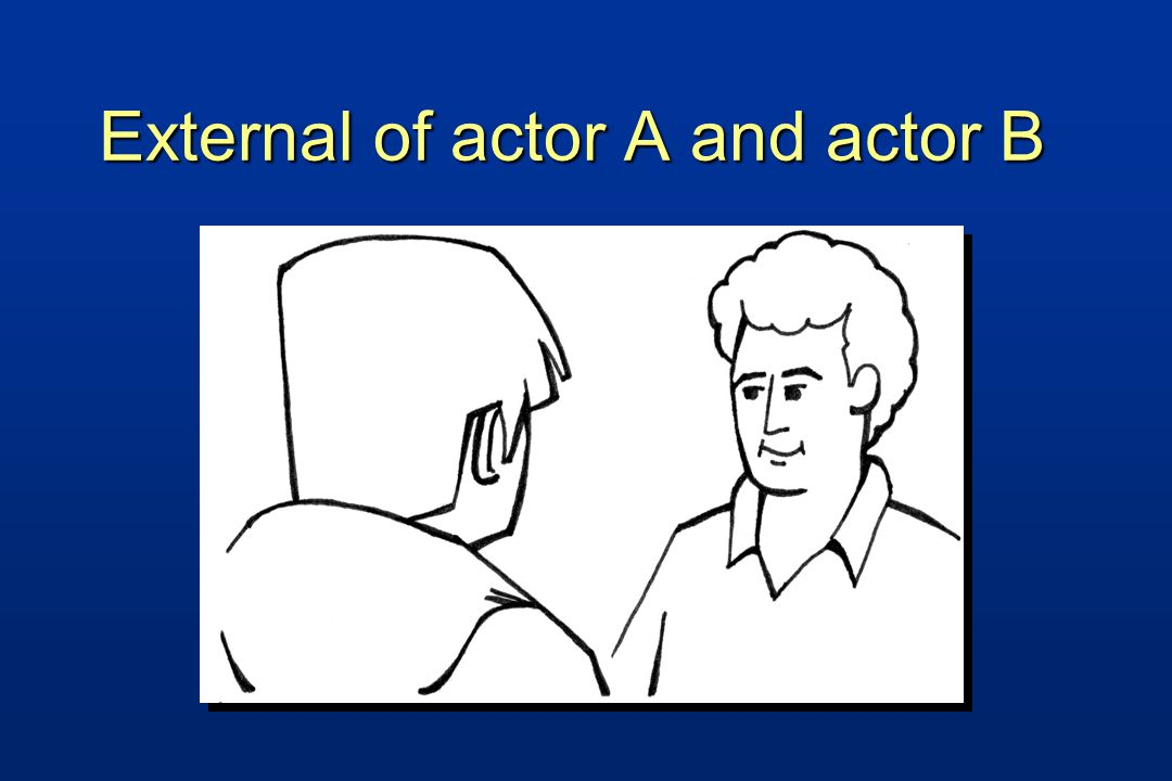 External of actor A and actor B