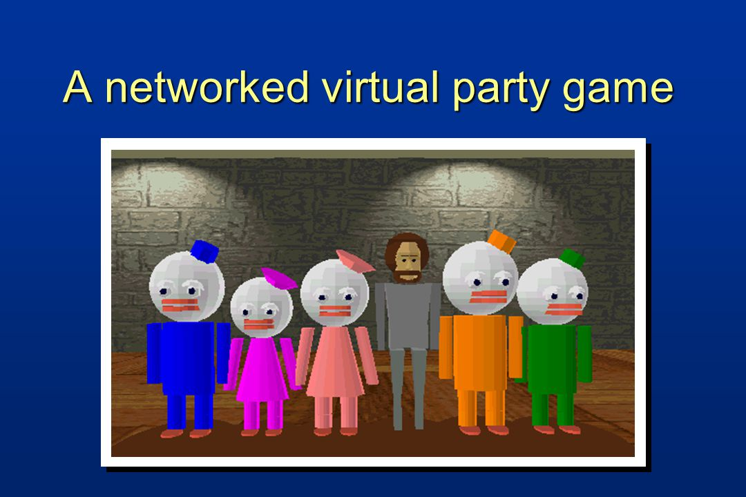A networked virtual party game