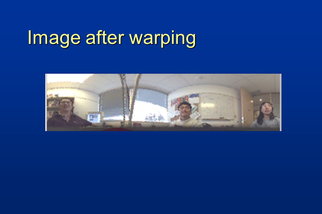 Image after warping