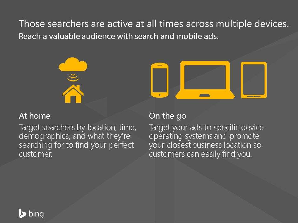 Those searchers are active at all times across multiple devices.