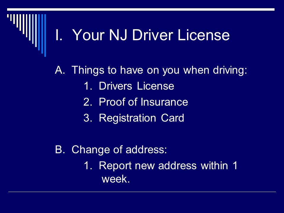 drivers license change of address nj
